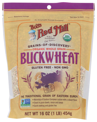 BOB'S RED MILL: Organic Whole Grain Buckwheat Groats, 16 oz - Vending Business Solutions