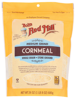 BOB'S RED MILL: Medium Grind Cornmeal, 24 oz - Vending Business Solutions