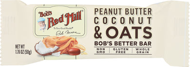 BOBS RED MILL: Peanut Butter Coconut & Oats Better Bar, 1.76 oz - Vending Business Solutions