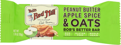 BOBS RED MILL: Peanut Butter Apple Spice & Oats Bobs Better Bar, 1.76 oz - Vending Business Solutions