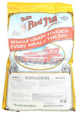 BOB'S RED MILL: Golden Flaxseed Meal, 25 lb - Vending Business Solutions