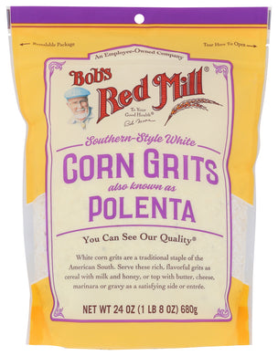 BOB'S RED MILL: Southern Style White Corn Grits, 24 oz - Vending Business Solutions