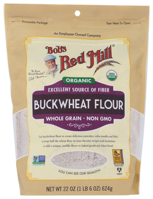 BOB'S RED MILL: Organic Buckwheat Flour, 22 oz - Vending Business Solutions