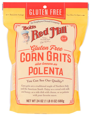 BOB'S RED MILL: Gluten Free Corn Grits Polenta, 24 oz - Vending Business Solutions