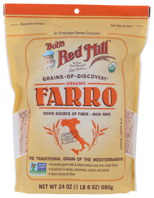 BOB'S RED MILL: Organic Farro, 24 oz - Vending Business Solutions