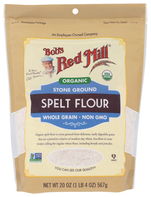 BOB'S RED MILL: Organic Stone Ground Spelt Flour, 20 oz - Vending Business Solutions