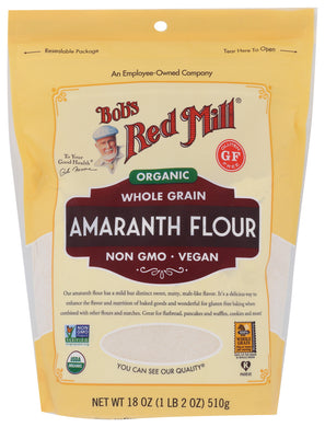 BOB'S RED MILL: Organic Whole Grain Amaranth Flour, 18 oz - Vending Business Solutions