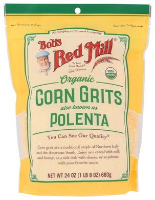 BOB'S RED MILL: Organic Corn Grits Polenta, 24 oz - Vending Business Solutions