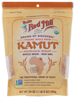 BOB'S RED MILL: Organic Whole Grain Kamut Berries, 24 oz - Vending Business Solutions
