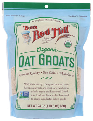 BOB'S RED MILL: Organic Whole Oat Groats, 24 oz - Vending Business Solutions