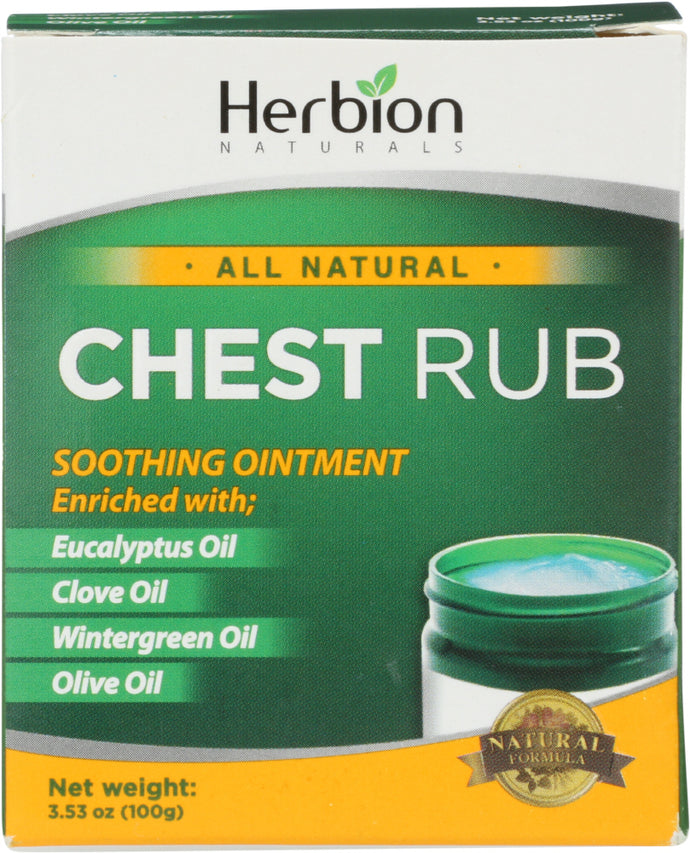 HERBION NATURALS: Chest Rub, 3.53 oz - Vending Business Solutions