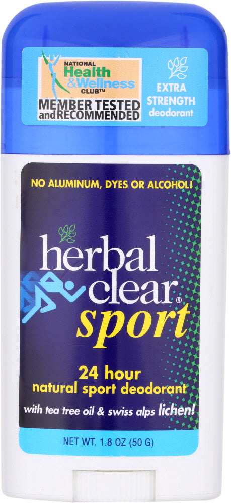 HERBAL CLEAR: Sport Deodorant Stick Tea Tree, 1.8 oz - Vending Business Solutions