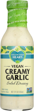 FOLLOW YOUR HEART: Vegan Creamy Garlic Salad Dressing, 12 oz - Vending Business Solutions
