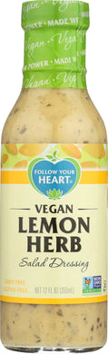 FOLLOW YOUR HEART: Vegan Lemon Herb Salad Dressing, 12 oz - Vending Business Solutions