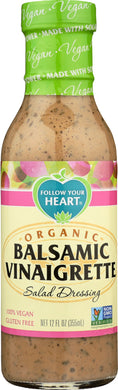 FOLLOW YOUR HEART: Organic Balsamic Vinaigrette Salad Dressing, 12 oz - Vending Business Solutions