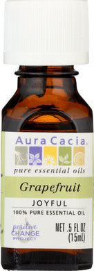 AURA CACIA: 100% Pure Essential Oil Grapefruit, 0.5 Oz - Vending Business Solutions