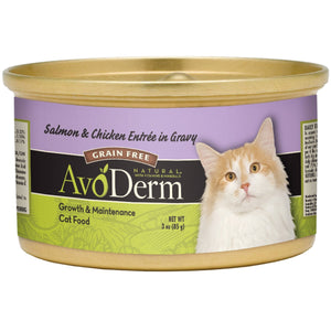 AVODERM: Salmon & Chicken Entree in Gravy Cat Food, 3 oz - Vending Business Solutions