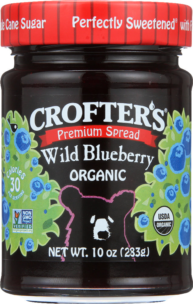 CROFTERS: Conserve Wild Blueberry Organic, 10 oz - Vending Business Solutions