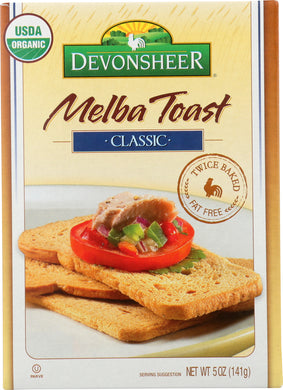 DEVONSHEER: Melba Toast Organic, 5 oz - Vending Business Solutions