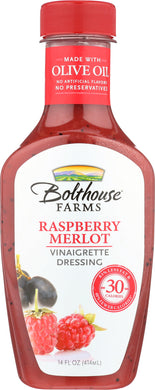 BOLTHOUSE FARMS: Raspberry Merlot Vinaigrette Dressing, 14 oz - Vending Business Solutions