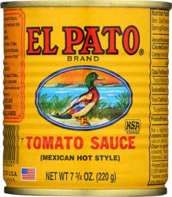 EL PATO: Tomato Sauce Mexican Hot Style, 7.75 oz - Vending Business Solutions