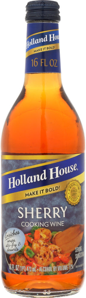HOLLAND HOUSE: Sherry Cooking Wine, 16 oz - Vending Business Solutions
