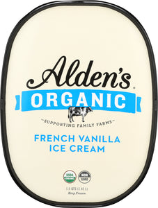 ALDENS ORGANIC: Ice Cream French Vanilla, 48 oz - Vending Business Solutions