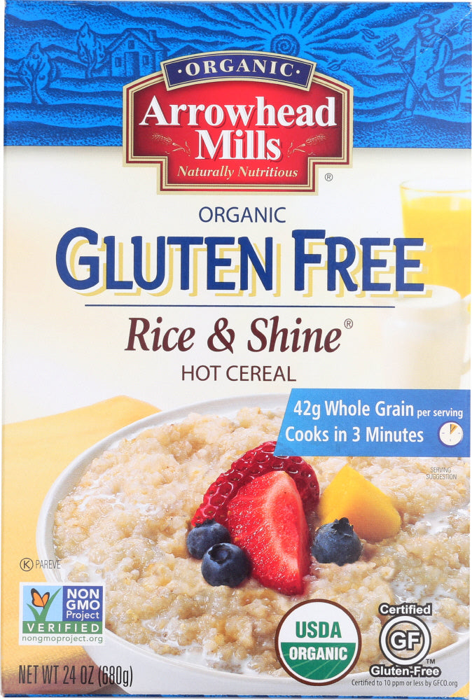 ARROWHEAD MILLS: Organic Gluten Free Rice and Shine Hot Cereal, 24 oz - Vending Business Solutions
