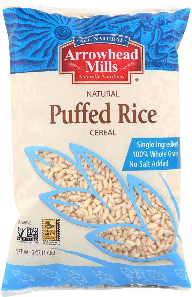 ARROWHEAD MILLS: Natural Puffed Rice Cereal, 6 oz - Vending Business Solutions