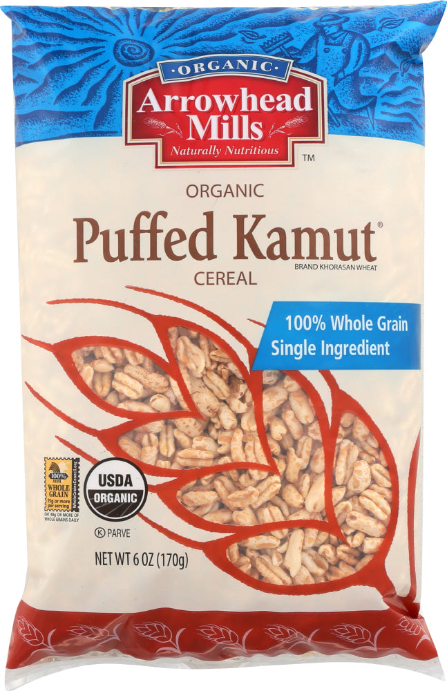 ARROWHEAD MILLS: Organic Puffed Kamut Cereal, 6 oz - Vending Business Solutions