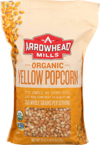 ARROWHEAD MILLS: Organic Yellow Popcorn, 28 oz - Vending Business Solutions