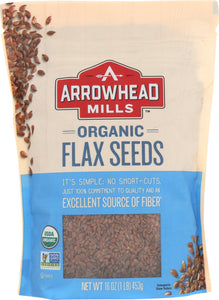 ARROWHEAD MILLS: Organic Flax Seeds, 16 oz - Vending Business Solutions