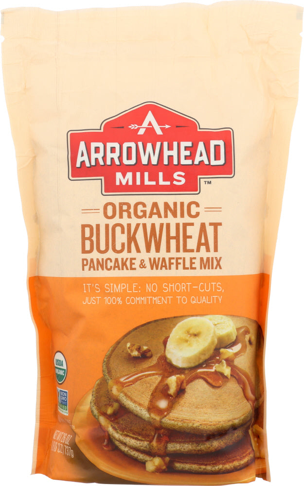 ARROWHEAD MILLS: Organic Buckwheat Pancake and Waffle Mix, 26 oz - Vending Business Solutions