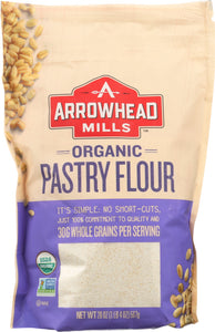 ARROWHEAD MILLS: Organic Pastry Flour, 20 oz - Vending Business Solutions