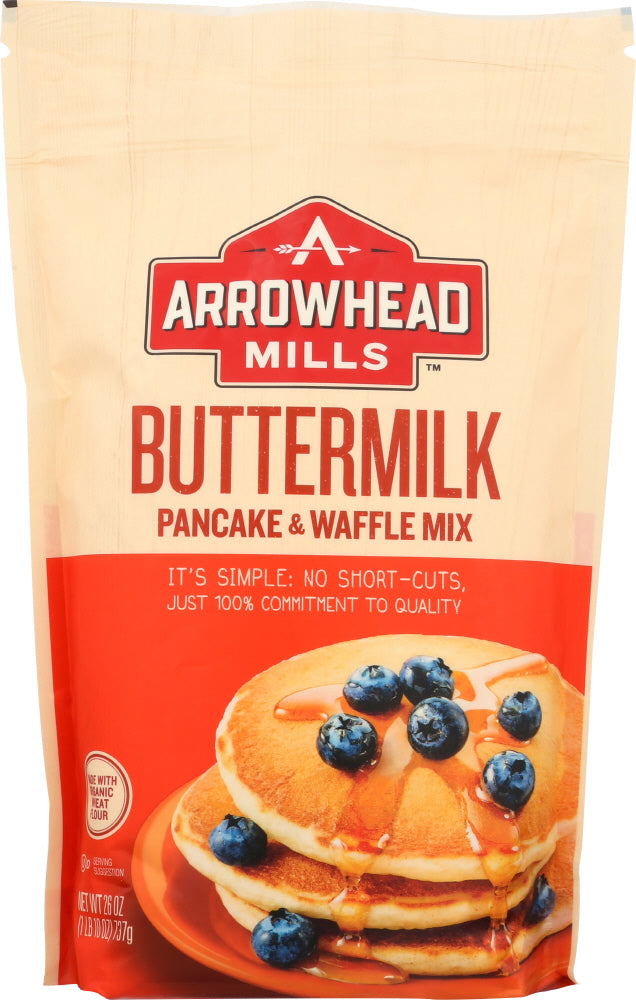 ARROWHEAD MILLS: Buttermilk Pancake and Waffle Mix, 26 oz - Vending Business Solutions