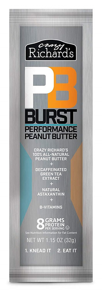 CRAZY RICHARD: Burst Performance Peanut Butter Squeeze Pack, 1.15 oz - Vending Business Solutions