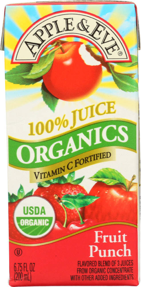 APPLE & EVE: 100% Fruit Punch Juice 3 Pack Organic, 200 ml - Vending Business Solutions
