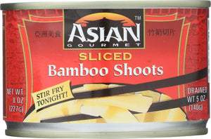 ASIAN GOURMET: Sliced Bamboo Shoots, 8 oz - Vending Business Solutions