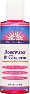 HERITAGE: Rose Water & Glycerin, 4 oz - Vending Business Solutions