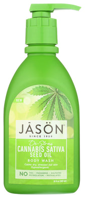 JASON: De-Stress Cannabis Sativa Seed Oil Body Wash, 30 fl oz - Vending Business Solutions