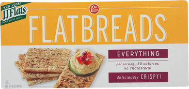 J J FLATS: Everything Flatbread, 5 oz - Vending Business Solutions
