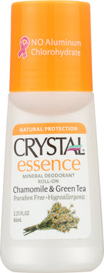 CRYSTAL BODY DEODORANT: Deodorant Roll-On Chamomile & Green Tea, 2.25 oz - Vending Business Solutions