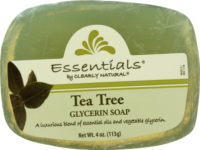 CLEARLY NATURAL: Glycerine Soap Bar Tea Tree, 4 oz - Vending Business Solutions