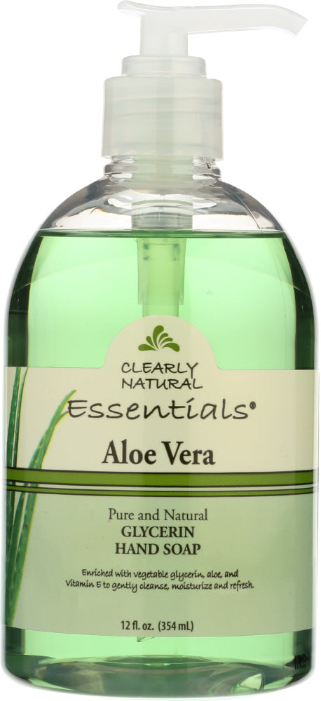 CLEARLY NATURAL: Essentials, Glycerine Hand Soap, Aloe Vera, 12 fl oz (354 ml) - Vending Business Solutions