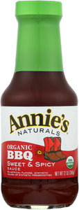 ANNIES HOMEGROWN: Bbq Sweet & Spicy Sauce, 12 oz - Vending Business Solutions