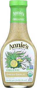 ANNIE'S NATURALS: Organic Green Garlic Dressing, 8 oz - Vending Business Solutions