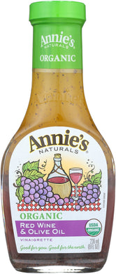 ANNIE'S NATURALS: Organic Red Wine & Olive Oil Vinaigrette, 8 oz - Vending Business Solutions