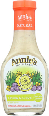 ANNIE'S HOMEGROWN: Dressing Lemon & Chive, 8 Oz - Vending Business Solutions