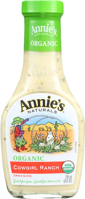 ANNIE'S NATURALS: Organic Dressing Cowgirl Ranch, 8 oz - Vending Business Solutions