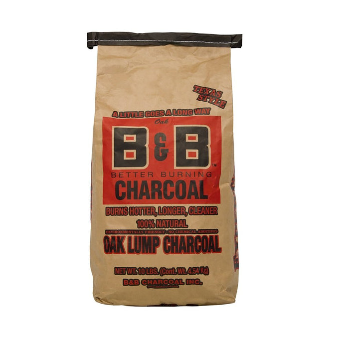 B&B CHARCOAL INC: Oak Lump Charcoal, 10 lb - Vending Business Solutions